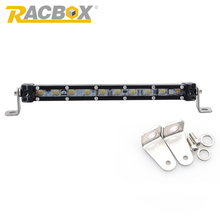 "Racbox 10W 9"" inch Slim Single 1 Row Spot Beam Mini LED Work Light Bar Car-Styling For JEEP 4x4 Motorcycle Automobile Headlight(China)"
