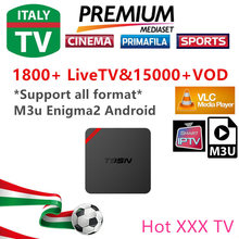 3/6/12 Months 2000 Live TV IPTV M3U ENIGAM2 Androd IPTV ITALY German French Spain UK IT MEDIASET PREMIUM PRIMAFILA USB Wifi
