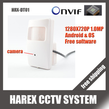 1280*720P 1.0 MP Mini IP Camera ONVIF indoor Plug and Play support smart phone online view , free shipping
