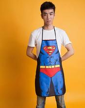 2017 hot Selling Waterproof Aprons Creative Personality Wacky Gift Couple Superman Aprons Kitchen Cleaning Supplies qy151(China)