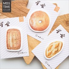 4pcs 30pages creative breadfist  good morning series Bread cake doughnut Decorative memo pad sticky note post it school supplies