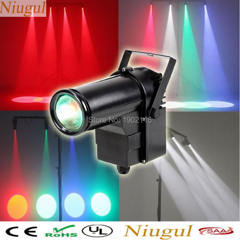 Niugul Mini DMX512 Stage light RGBW disco beam led pinspot light for DJ party KTV mirror ball pin spot lights spotlight lamps<br>