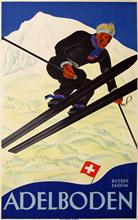 Skiing in Adelboden Ski Vintage Retro Kraft Travel Poster Decorative DIY Wall Sticker Home Bar Art Posters Decoration Kid Gift