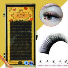Free shipping1 pcs 0.05 J/B/C/D Curl Mink Eyelash Extension Thin and Soft Materail 3d 6d Voluming lashes Tray Lash