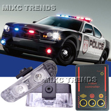 2x2/led LED Ambulance Police light Car Truck Motorcycle Light Flashing Firemen Lights DC 12V led Warning light