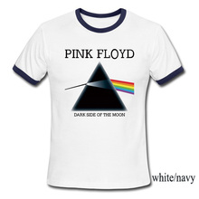 USAprint New Men T Shirt Designers Pink Floyd Print T-shirt Dark Side of the Moon Clothing Rock Roll Music Top Short Sleeve(China)