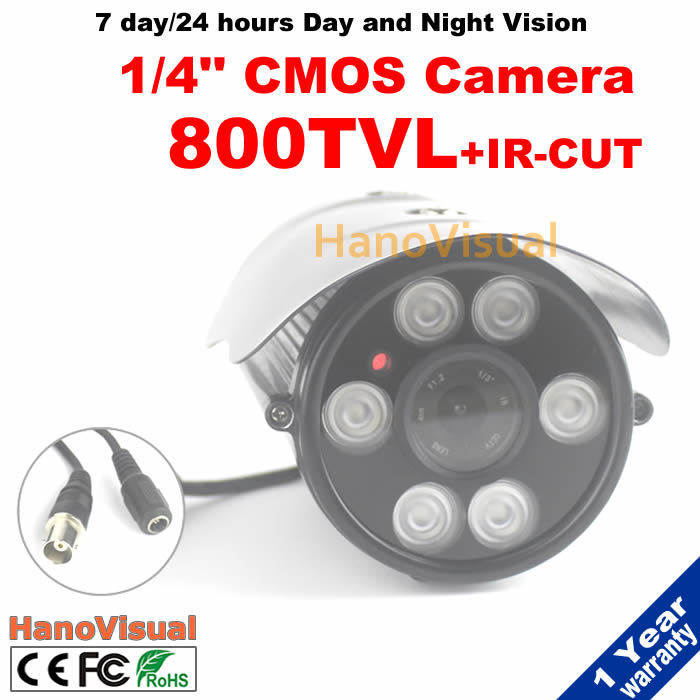 1/4CMOS 800TV Line 6pcs Array LED Home Security Surveillance Camera Waterproof With IRCUT Filter CCTV Camera Night Vision<br><br>Aliexpress