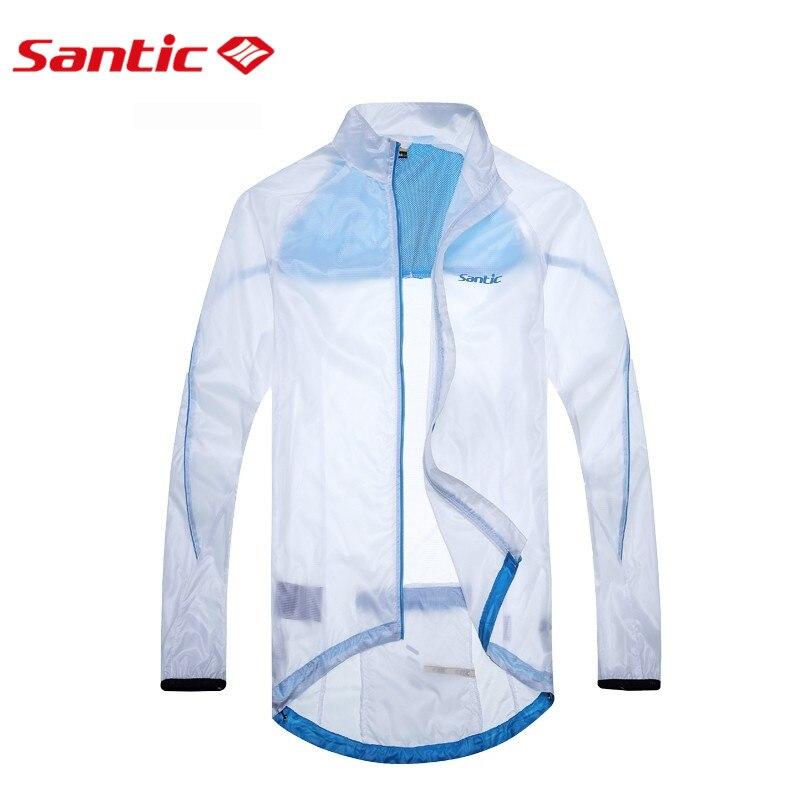 Santic White Cycling Raincoat  WindProof Jacket  UPF30+ light Men Outdoor Professional Bike Cycling Sports Jacket  MC07010W<br><br>Aliexpress
