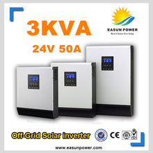 Solar Inverter 3Kva 2400W Off Grid Inverter 24V to 220V 50A PWM Hybrid Inverters Pure Sine Wave Inverter 30A Battery Charger