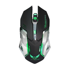 2.4G Rechargeable Wireless Mouse Optical Mouse 6 Buttons 2400DPI Computer Mouse 7 Colors LED Game Mice for PC Laptop Gamer(China)