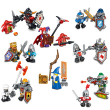 8 pcs/lot new nexus future knights shield nexus warrior gift children toys castle building blocks compatible with legoes