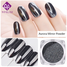 1g/Box Shiny Laser Nail holo Powder Aurora Black Nail Glitter Black Magic Mirror Powder Manicure Pigments Nail Art Decorations(China)