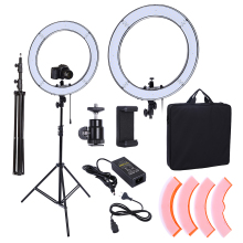 Camera Photo Studio Phone Video 18inch 55W 240PCS LED Ring Light 5500K Photography Dimmable Flash Ring Lamp With 200CM Tripod(China)