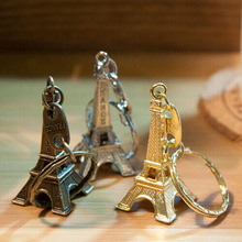 Zakka retro exquisite business promotional gifts Paris Eiffel Tower France Eiffel Tower Keychain(China)