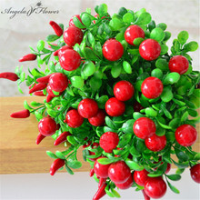 Cheap artificial Pepper fruit Rich fruit green plant home decoration Flower arranging accessories fruit