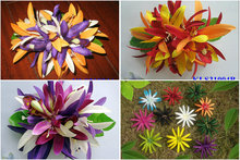 New  FREE SHIPPING+KLS31005A  100pcs/lot    15x15cm 10 COLORS MIXED  Felt  Spider lily&ORCHID  hair clip  Hawaii hair flowers