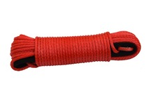 "Free Shipping Red 1/4""*100ft Synthetic Rope,Towing Rope,ATV Winch Cable,Off Road Rope,Kevlar Winch Rope(China)"