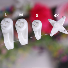 100pcs= 25* (S+M+L+4X) Non-trace nail/Picture Hangers/Hook for Photo frame/Wedding photos/Clothes/Handbag/Metope adornment(China)