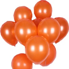 Air balls 10inch 1.8g orange latex balloons wedding decoration birthday balloons inflatable helium balloons party supplies balon(China)