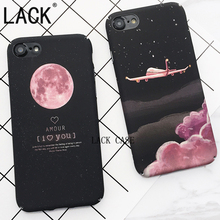 LACK Top Selling Space Moons Phone Case For iPhone6 Fashion Candy Cartoon airplane frosted Back Cover For iphone 6S 7 7Plus Capa(China)