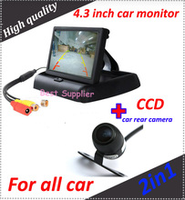 "4.3"" Color Dashboard Backup TFT LCD Car Monitor+car rear backup camera CCD HD night view"