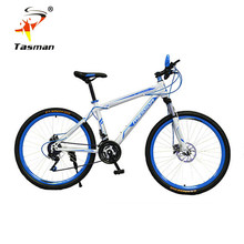 TASMAN Men Women mountain fixed gear fixie bike 21 speed Gear shift 26 Inch Double Disc Brakes Bicycle Road Cycling Riding