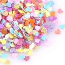 23g Mixed Small Heart Sequins For Crafts&Paillette Sewing Scrapbooking lentejuelas 3mm CP1423