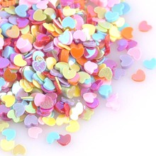 23g Mixed Small Heart Sequins For Crafts&Paillette Sewing Scrapbooking lentejuelas 3mm CP1423(China)