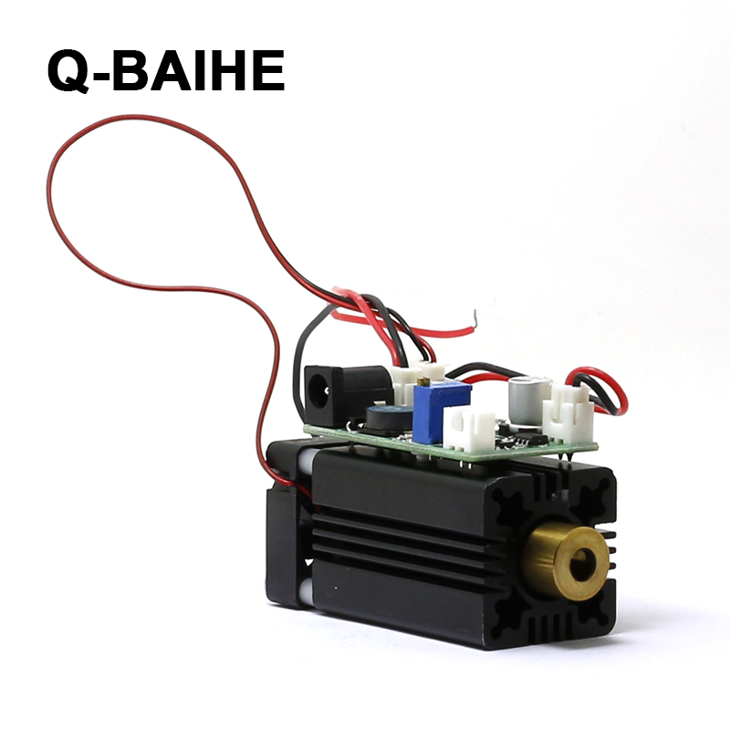 Violet blue laser 405nm 50mW focusable Dot laser module 12V TTL +long time working<br>