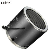 Leory Z12 Cylinder Portable Mini Speaker Amplifier FM Sound Music Radio HIFI Support USB Flash Card Micro for SD TF MP3 Player