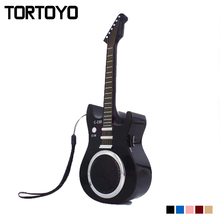TORTOYO Mini Guitar Portable Bluetooth Wireless Speaker C330 Stereo Soundbox Mp3 Player Subwoofer TF Card Flash Driver Speaker(China)