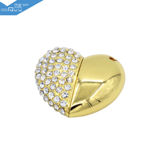 NEW 3500 USB Flash Drive High Speed Jewelry Crystal Heart 8GB 16GB 32GB Pen Drive Memory USB Stick Pendrive For PC Free Shipping