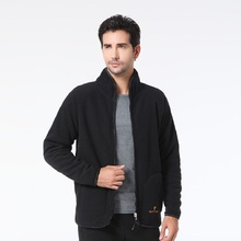 Outdoors Fleece Plus Velvet Men's Jacket with Thickened Warm Wear Both Sides Autumn Winter Leisure Father Sporting Coat Male