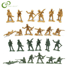 30Pcs 5cm Plastic Soldier Model World War II Soldier military Toys Best birthday Christmas gifts for Boys Toys for Children GYH