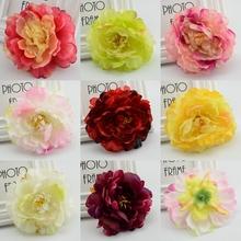 5pcs Cheap Silk flower peony Artificial Flower Heads for Wedding Home Party Decoration Bride Bouquet Wrist Fake Flower