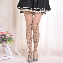 Sexy Women Tattoo Pattern Temptation Sheer Pantyhose Stockings Styles Factory Price(China)
