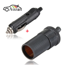 12V 3A Replacement Car Cigarette Lighter Socket + Car Charger Plug Female Adapter Connector Conversion(China)