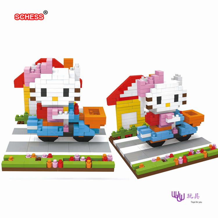 SC: Hello Kitty 1074  Diamond Micro Nano Building Blocks Action Figure boy &amp; girl gifts<br><br>Aliexpress