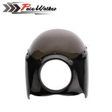 FREE SHIPPING new arrived black Wide Glide Motorcycle Headlight Plastic Front Fairing Kit for Harley motor