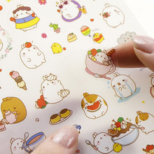 Korean Molang Cute Rabbit Sticker Notebook DIY Decoration Sticky Album Diary Scrapbooking sticker for kids Stationery Stickers(China)