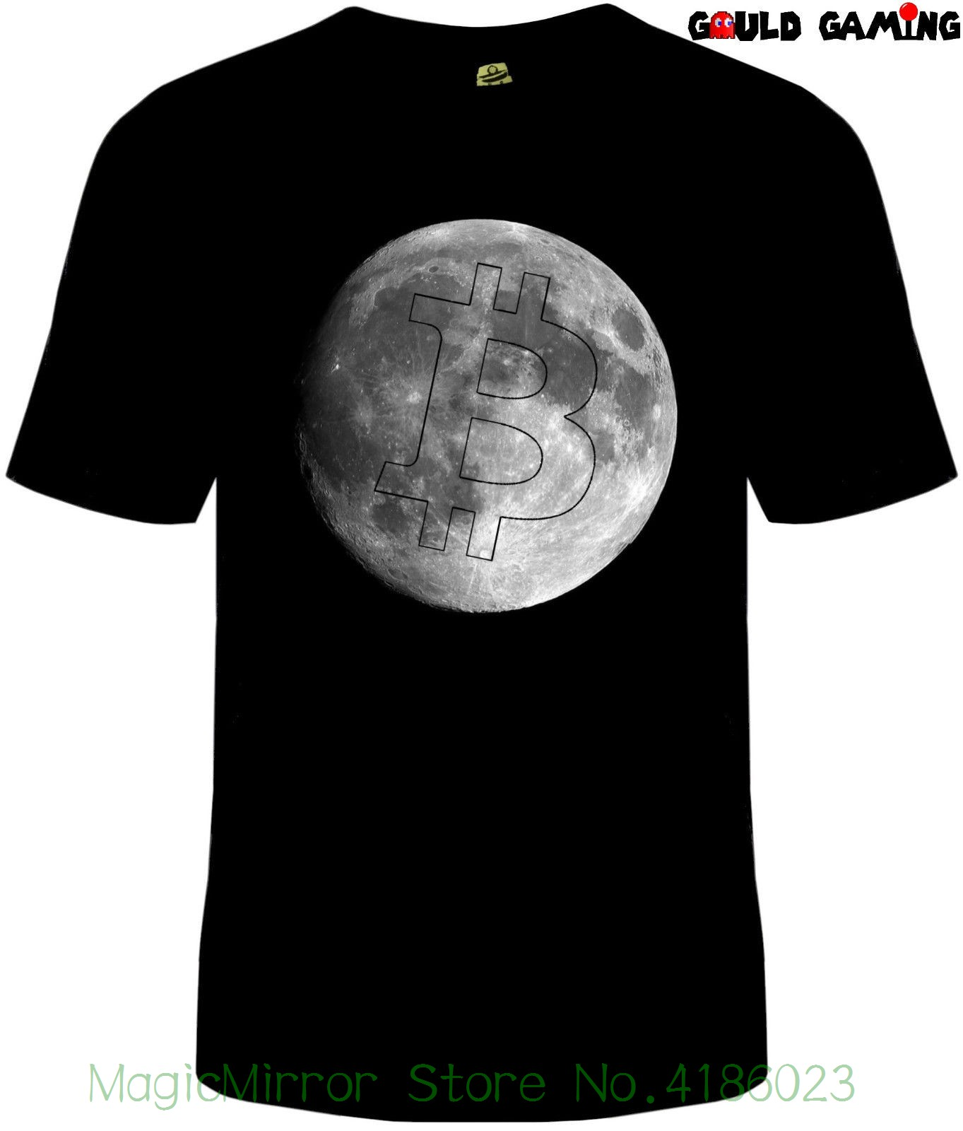 Bitcoin Moon T-shirt Unisex Cotton Adult Sizes Ethereum Litecoin Crypto Hot Sell 2018 Fashion