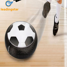 LeadingStar Gadget Air Power Soccer Disk Latest Indoor Game LED Electric Suspension Pneumatic Football Toys For Children zk35(China)
