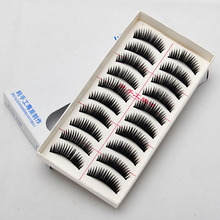 hogh quality New woman 10 Pairs Fake Natural False Makeup Eyelashes Thick Volume Soft Long Curl Style