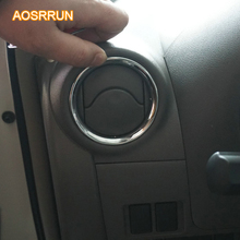 AOSRRUN For Nissan Versa Sedan hatchback note SR 2014 2015 ABS chrome Air conditioning cover car accessories trim stickers(China)