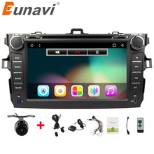 Eunavi 2 Din Android 6.0 car dvd player For Toyota corolla 2007 2008 2009 2010 2011 in dash car radio gps video wifi bluetooth