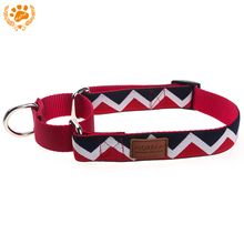 Nylon Rainbow Dog Collars For Big Dogs Outdoor Tactical Training Led Dog Collar Necklace Pet Supplies Leather Decoration D002008(China)