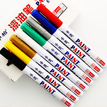 8pcs sipa colored paint car tire marker as uni black car scratch repair paint pen 2mm permanent marker for glass wood ceramic(China)
