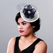Multiple colors Elegant Ladies sinamay fascinator headwear feather party show hair accessories millinery cocktail hats MD16011(China)