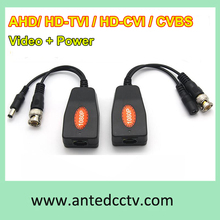 Wholesales 100pcs/Lot 1CH Passive HD UTP Power Video Balun AHD+TVI+CVI+ CVBS +Power Transceiver