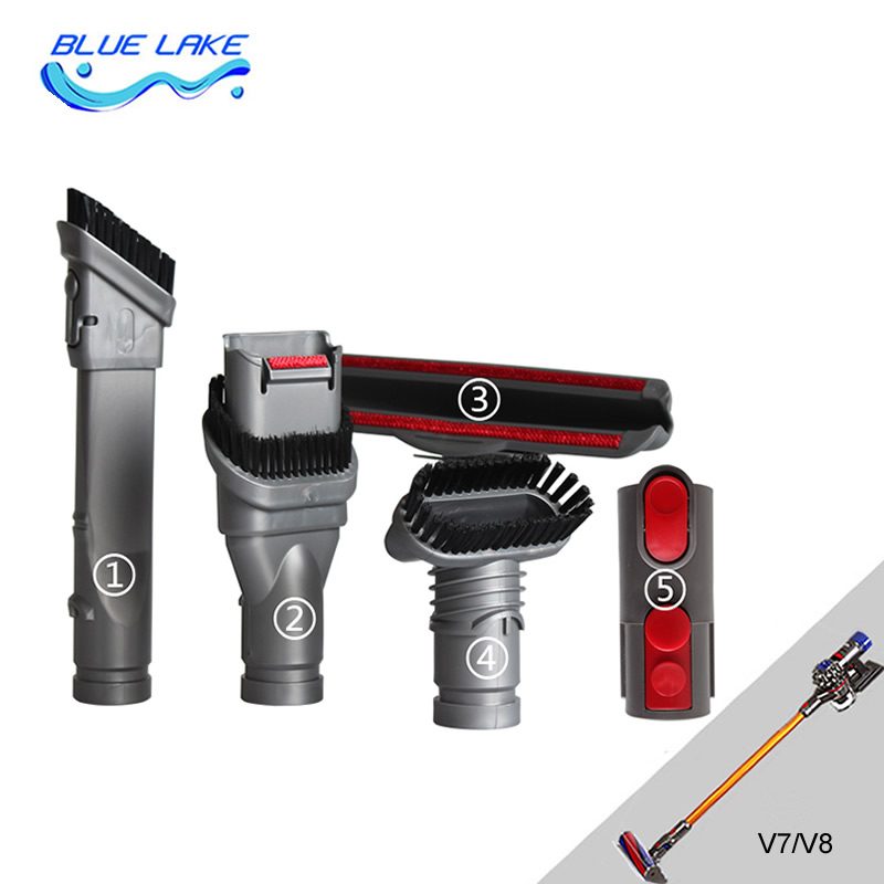 Vacuum Cleaner brush,adapter,5 in 1 sets, Multi-purpose Clean all corners, V7 V8. for dyson vacuum cleaner parts<br>